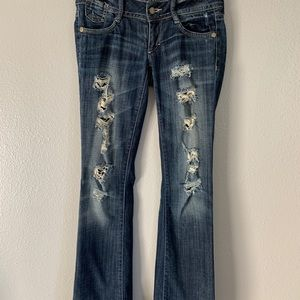 Decree boot cut destroyed jeans